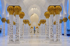 Detail of the Sheikh Zayed Mosque Royalty Free Stock Photography