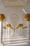 Detail of Sheikh Zayed Mosque Royalty Free Stock Photography