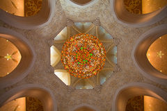 Detail of the Sheikh Zayed Mosque in Abu Dhabi Royalty Free Stock Photos