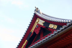 Detail of a Shintoist temple Stock Photo