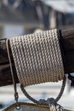Detail of a ship`s rigging.  Royalty Free Stock Image