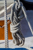 Detail of a ship`s rigging.  Royalty Free Stock Photo