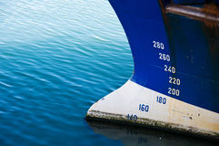 Detail of ship. The detail of a ship in a water. Marine theme Stock Images