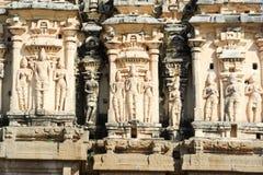 Detail of Shiva-Virupaksha Temple at Hampi, India Royalty Free Stock Photo