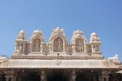 Detail of Shiva Virupaksha Temple, Hampi, Karnataka, India. Stone bas-reliefs.  royalty free stock image