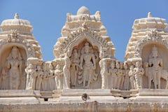 Detail of Shiva Virupaksha Temple, Hampi, Karnataka, India. Stone bas-reliefs.  royalty free stock photo