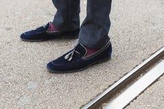 Detail of shoes at Milan Fashion Week Royalty Free Stock Images