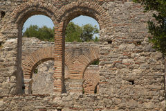 Detail shoot of Roman gate in Butrint, Albania Royalty Free Stock Image