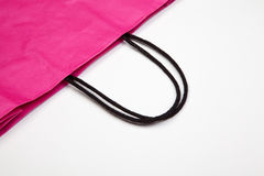Detail of shopping bag. Royalty Free Stock Images