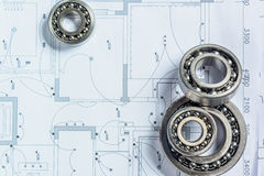 Detail shot of Architectural blueprint Stock Images