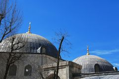 Ayasofia mosque and sky royalty free stock photography