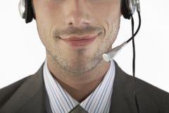 Detail Shot Of Businessman Wearing Headset Royalty Free Stock Image