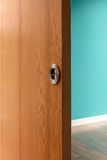 Detail shot of door without handle Stock Images