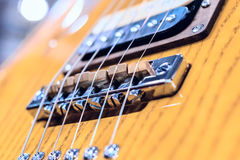 Detail shot of an electric guitar. Stock Image