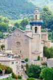 Parish of Sant Bartomeu in the old town of Valldemossa, Majorca, Spain royalty free stock image