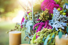 Detail shot of a floral arrangement Royalty Free Stock Photography