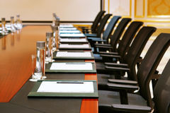 A detail shot of a meeting room Royalty Free Stock Images