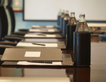 A detail shot of a meeting room, select focus Stock Image