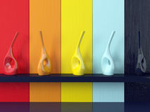 Detail shot of modern coloured wall. Royalty Free Stock Photo