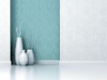 Interior design. Living room wall. Royalty Free Stock Images