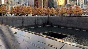 New York`s World Trade Center Memorial. Detail shot at New York`s World Trade Center Memorial stock photography