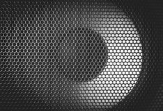 Detail Shot Of Some Round Speakers. Speaker Grill Texture. Royalty Free Stock Photos
