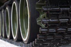 Detail shot with old tank tracks and wheels Royalty Free Stock Photography