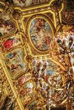 Detail shot in the Opera Garnier in Paris royalty free stock image