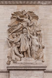 Detail shot of Ornamental Sculptures on Arch of Triumph, Paris France Stock Photo