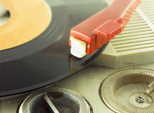 Detail shot of a record player Stock Photos