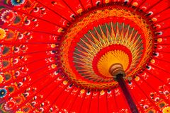 Red umbrella detail shot royalty free stock photo