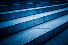 Detail Shot Of stairs in blue tone Royalty Free Stock Photos
