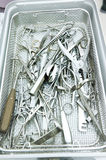 Detail shot of steralized surgery instruments l Royalty Free Stock Photos