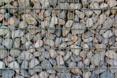 Detail shot of a stone retaining wall Stock Photography