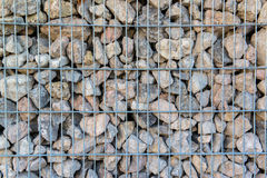 Detail shot of a stone retaining wall Royalty Free Stock Photo