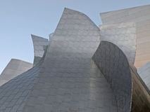 Detail shot of the walt disney concert hall. Royalty Free Stock Images