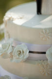 Detail shot of a wedding cake Stock Image