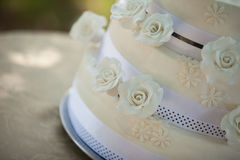 Detail shot of a wedding cake Stock Photography
