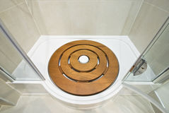 Detail of a shower tub base. Detail of a modern shower tub base Royalty Free Stock Photography