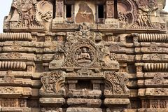 Detail of Shri Vaital temple Stock Image