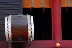 Detail of shrine with drum Royalty Free Stock Photos