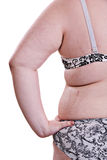 Detail of the side torso girl with obesity Stock Images