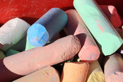 Detail of sidewalk chalk Stock Images