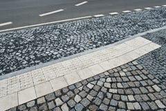 Detail of sidewalk Royalty Free Stock Image