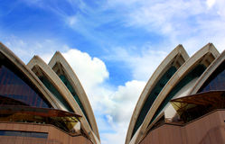Detail of Sidney Opera House. Stock Photo