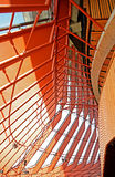 Detail of Sidney Opera House. A detail of a window in the ceiling of the Sidney Opera House Royalty Free Stock Images