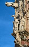 Detail on Siena Cathedral Royalty Free Stock Photos