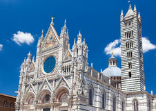 Detail of Siena cathedral in a sunny summer day, Tuscany, Italy Royalty Free Stock Images