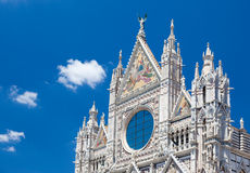 Detail of Siena cathedral in a sunny summer day, Tuscany, Italy Stock Images