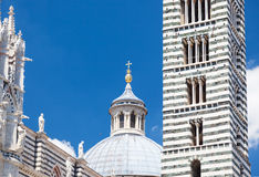 Detail of Siena cathedral in a sunny summer day, Tuscany, Italy Stock Photo